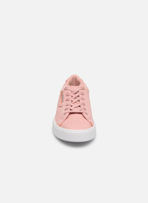Baskets adidas originals Adidas Sleek W Rose vue portées chaussures