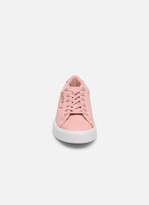Deportivas adidas originals Adidas Sleek W Rosa vista del modelo