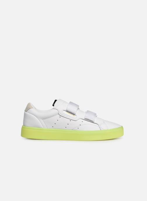 Sneaker Adidas Originals Adidas Sleek S W weiß ansicht von hinten