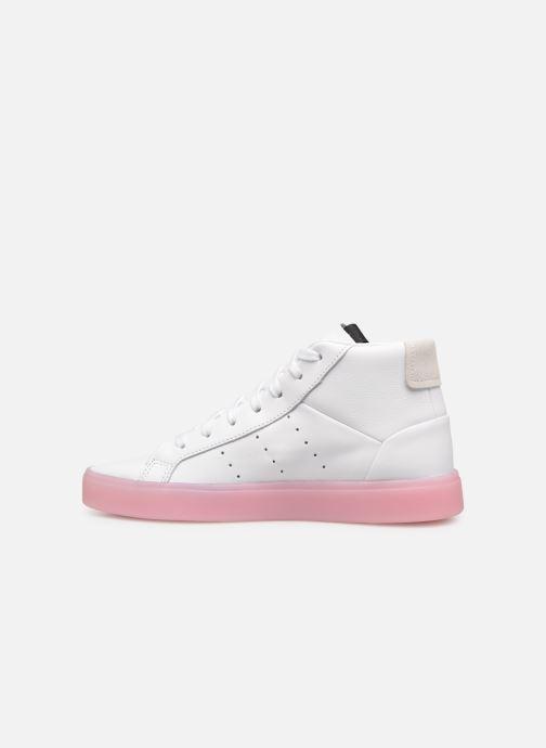 sports shoes a6b48 48027 Baskets adidas originals Adidas Sleek Mid W Blanc vue face