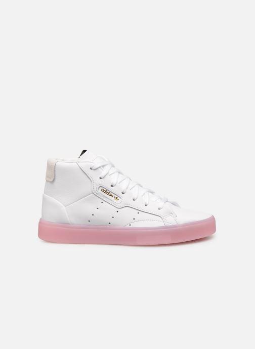 Baskets adidas originals Adidas Sleek Mid W Blanc vue derrière