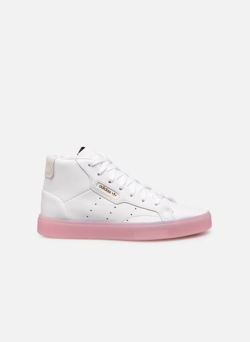 Baskets Adidas Originals Adidas Sleek Mid W Blanc vue derrière