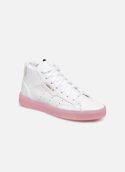Baskets adidas originals Adidas Sleek Mid W Blanc vue détail/paire