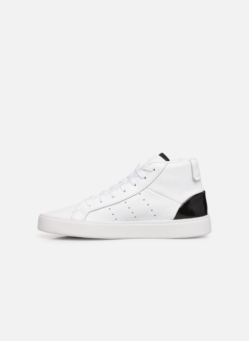 Sneakers adidas originals Adidas Sleek Mid W Hvid se forfra