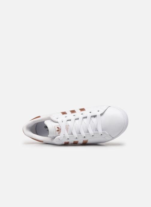 Baskets adidas originals Coast Star W Blanc vue gauche