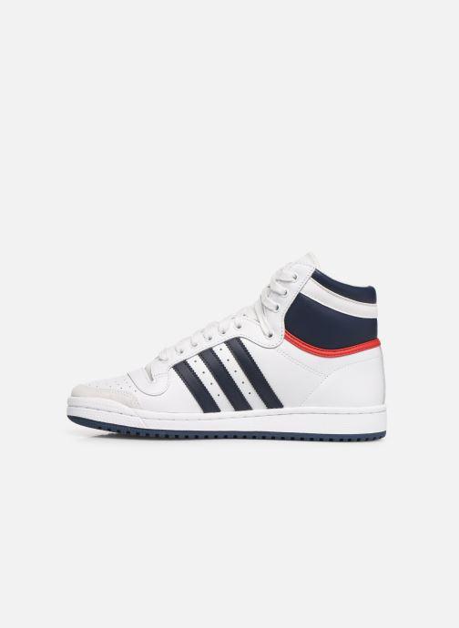 Baskets adidas originals Top Ten Hi Blanc vue face