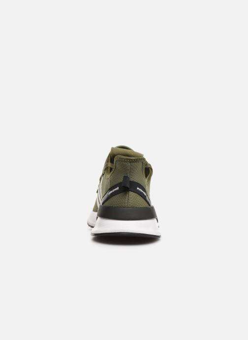 Trainers adidas originals U_Path Run Green view from the right