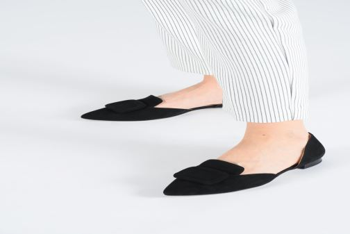 Ballet pumps HÖGL Candy Black view from underneath / model view