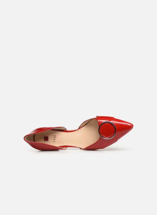 High heels HÖGL Liberty Red view from the left