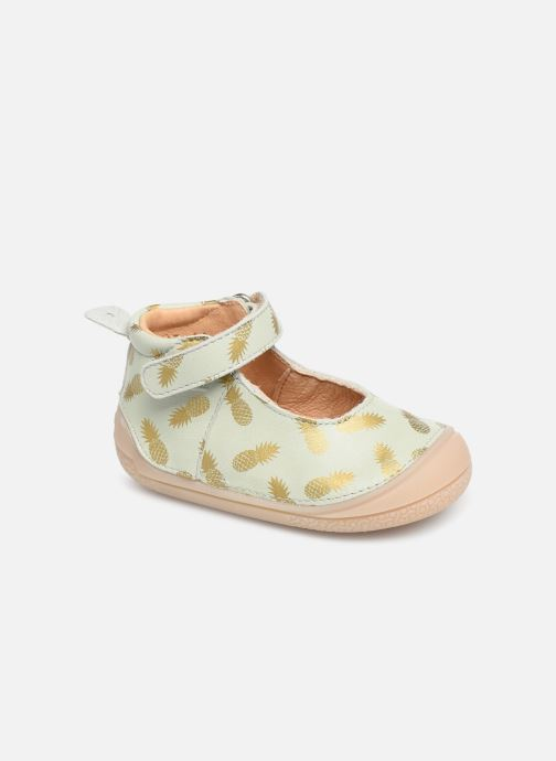 Slippers Babybotte Ziara Green detailed view/ Pair view