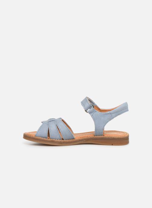 Sandals Babybotte Krikri Blue front view