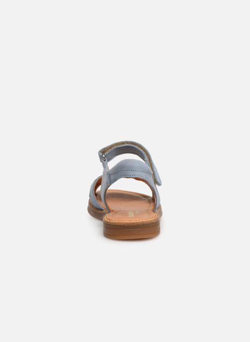 Sandals Babybotte Krikri Blue view from the right