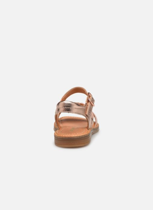 Sandals Babybotte Kourone Beige view from the right
