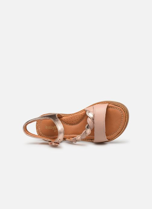 Sandals Babybotte Kourone Beige view from the left