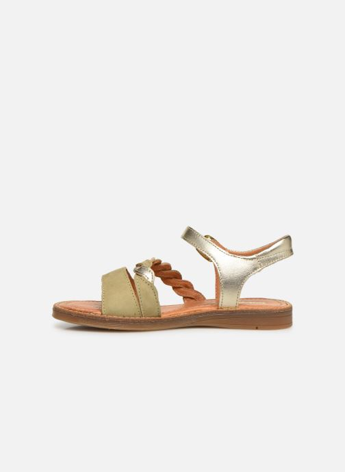 Sandals Babybotte Kourone Bronze and Gold front view