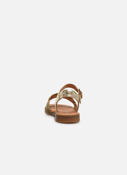 Sandals Babybotte Kourone Bronze and Gold view from the right