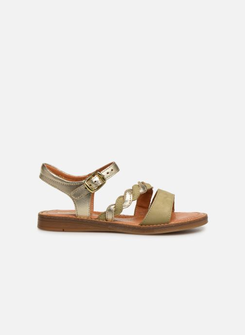 Sandales et nu-pieds Babybotte Kourone Or et bronze vue derrière