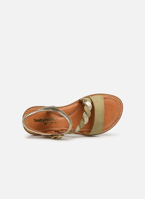 Sandals Babybotte Kourone Bronze and Gold view from the left