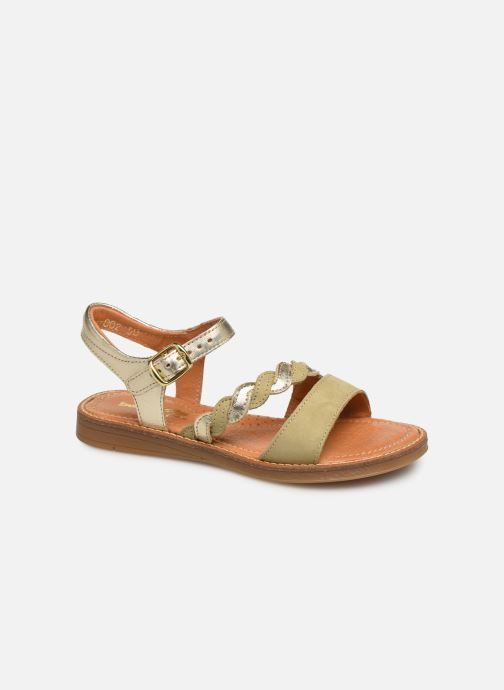 Sandals Babybotte Kourone Bronze and Gold detailed view/ Pair view