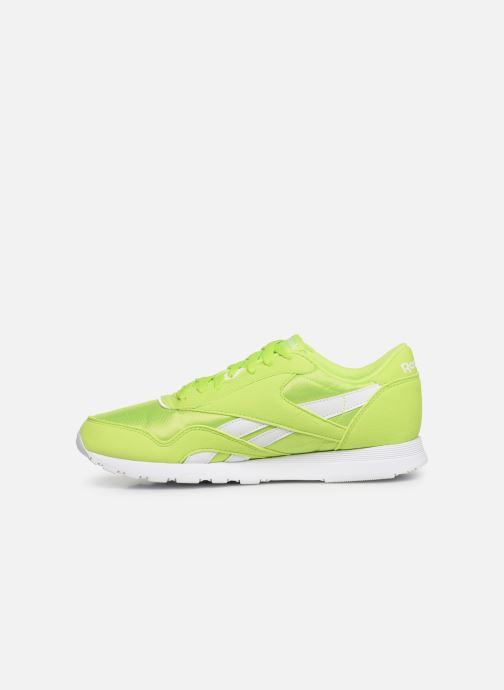 Baskets Reebok Classic Leather Nylon Color Vert vue face