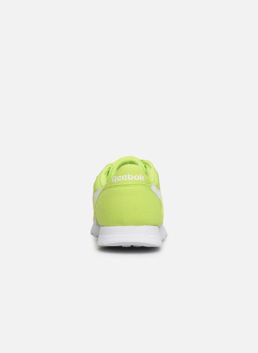 Baskets Reebok Classic Leather Nylon Color Vert vue droite