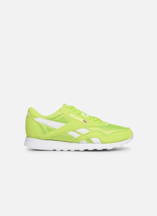 Sneaker Reebok Classic Leather Nylon Color grün ansicht von hinten