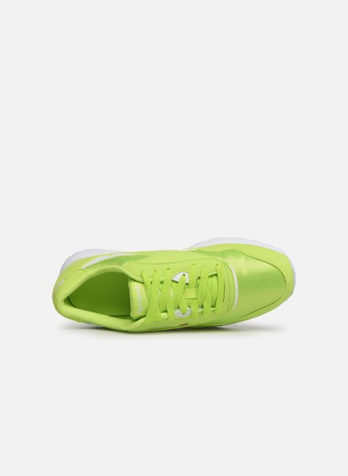 Baskets Reebok Classic Leather Nylon Color Vert vue gauche