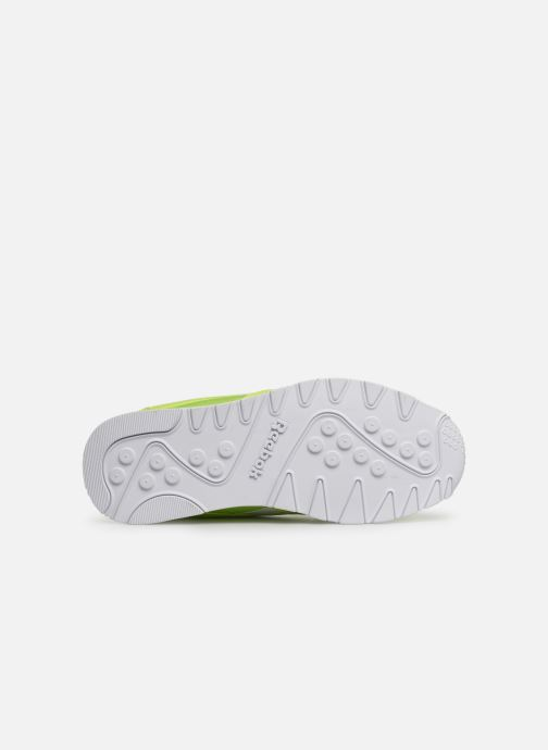 Sneaker Reebok Classic Leather Nylon Color grün ansicht von oben