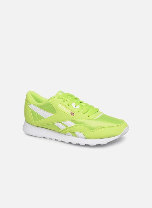 Sneaker Reebok Classic Leather Nylon Color grün detaillierte ansicht/modell