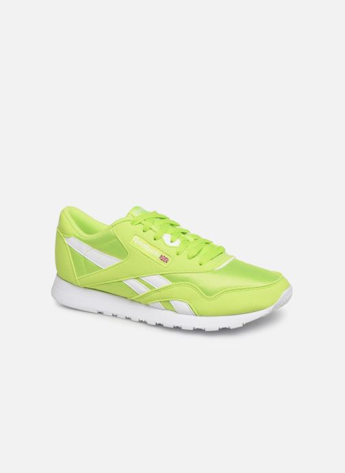 Baskets Reebok Classic Leather Nylon Color Vert vue détail/paire