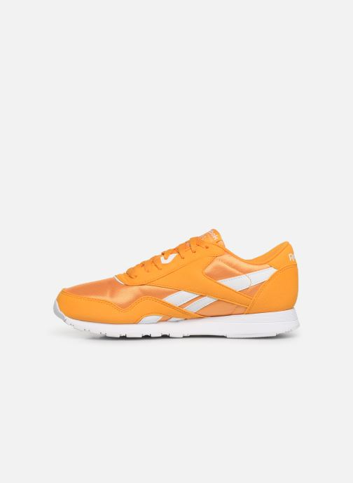 Trainers Reebok Classic Leather Nylon Color Yellow front view