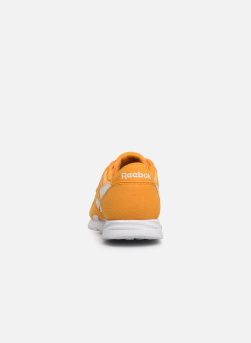 Trainers Reebok Classic Leather Nylon Color Yellow view from the right