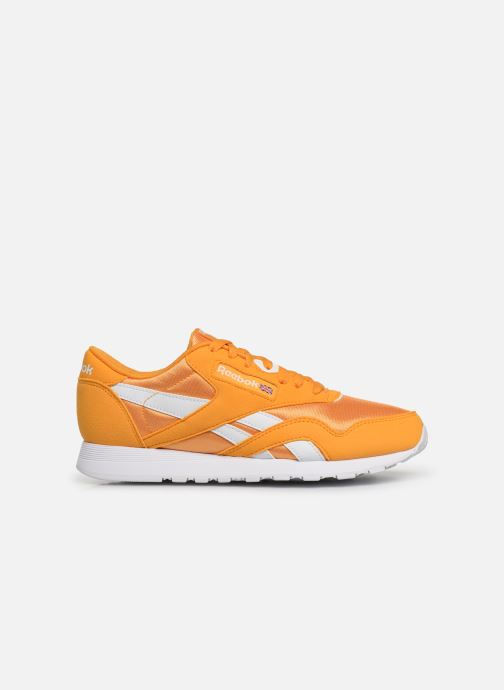Trainers Reebok Classic Leather Nylon Color Yellow back view