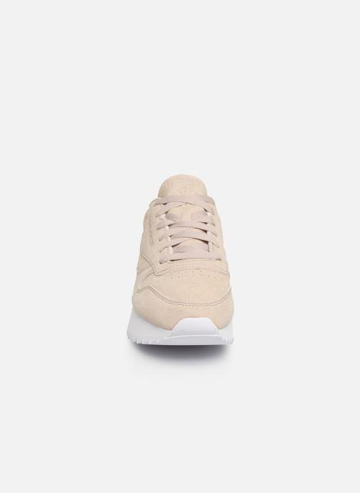 Baskets Reebok Classic Leather  Double Beige vue portées chaussures