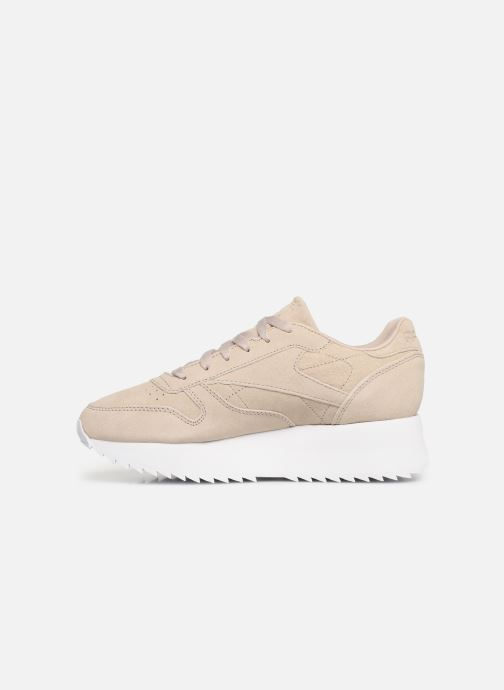 Baskets Reebok Classic Leather  Double Beige vue face