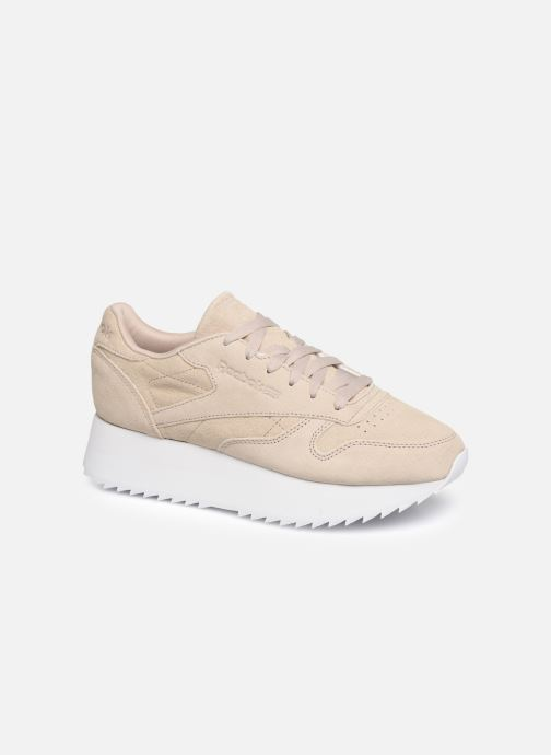 Baskets Reebok Classic Leather  Double Beige vue détail/paire