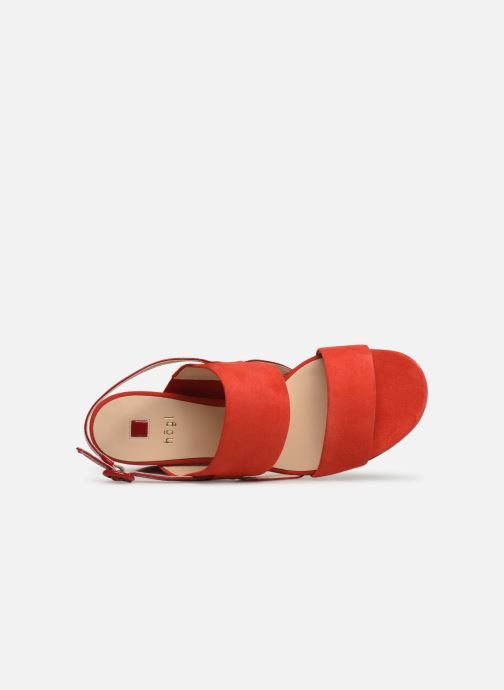 Sandalias HÖGL Painty Rojo vista lateral izquierda