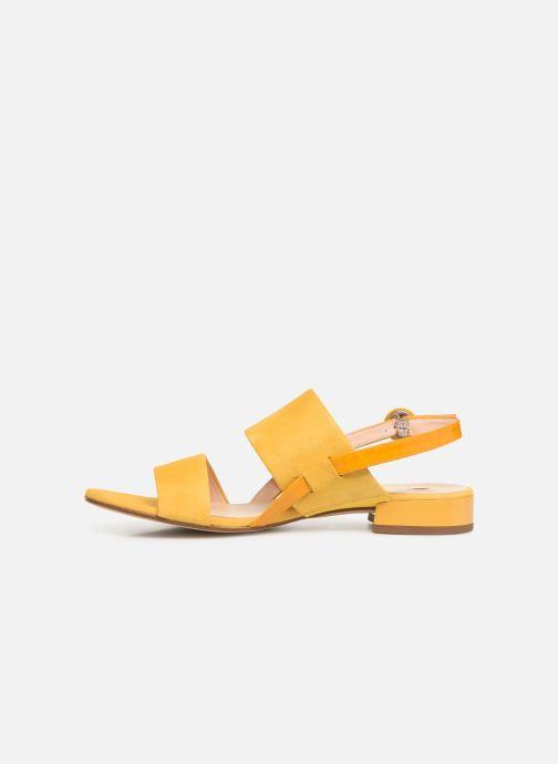 Sandalen HÖGL Ribby gelb ansicht von vorne