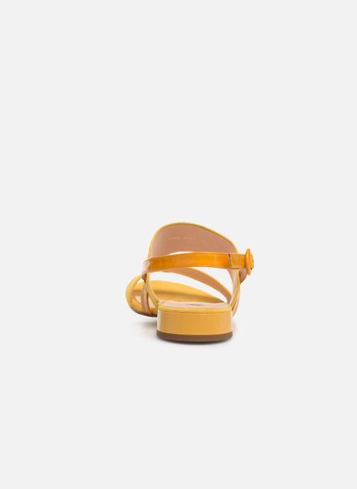 Sandalen HÖGL Ribby gelb ansicht von rechts