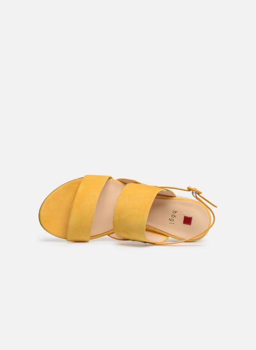 Sandalen HÖGL Ribby gelb ansicht von links