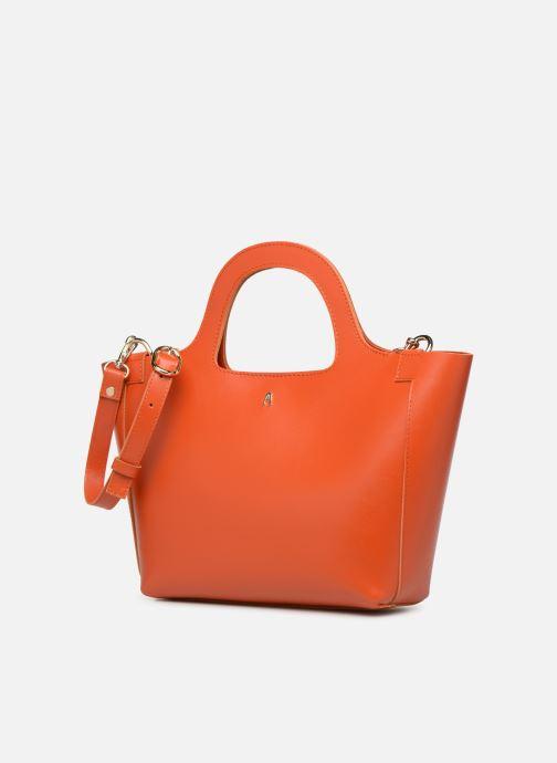 Sacs à main Craie PARABOLE Orange vue portées chaussures