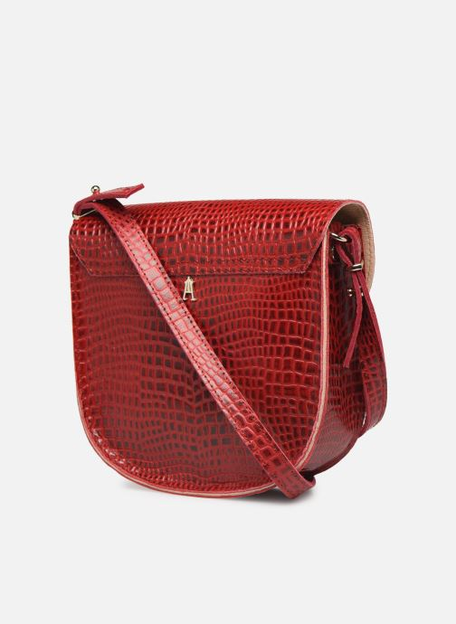 Handtassen Craie MINI LUNE Rood rechts