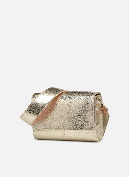 Sacs à main Craie POESIE Or et bronze vue portées chaussures