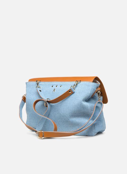 Handtaschen Craie MAXI MATHS braun ansicht von rechts