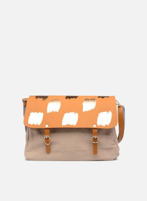 Handtaschen Craie MAXI MATHS braun ansicht von links