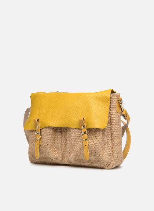 Handtaschen Craie MAXI MATHS gelb schuhe getragen