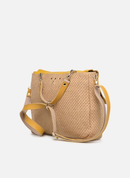 Handtaschen Craie MAXI MATHS gelb ansicht von rechts