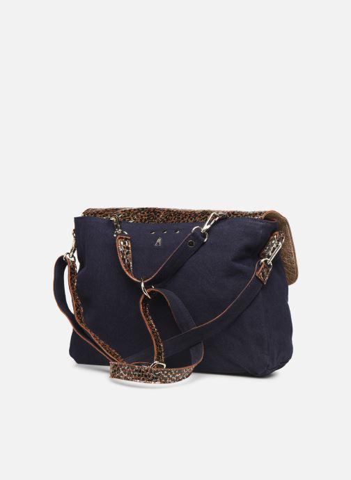Handtaschen Craie MAXI MATHS blau ansicht von rechts