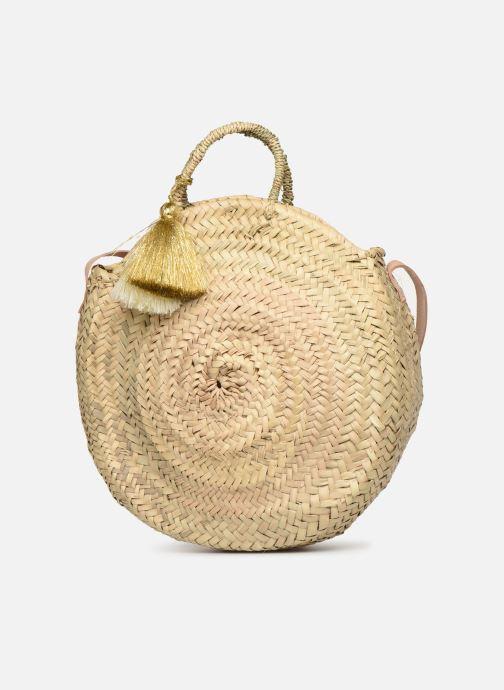 Handbags Etincelles Panier rond bandoulière et anses Pompons Beige model view