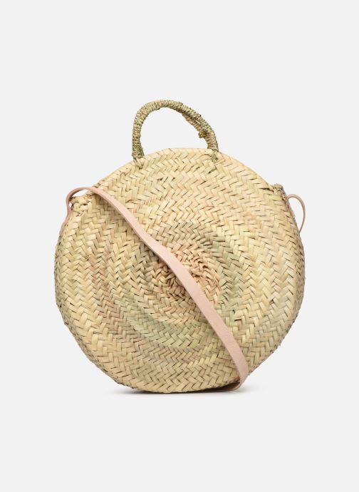 Handbags Etincelles Panier rond bandoulière et anses Pompons Beige front view